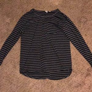 Tops - Cute longer, long sleeve striped shirt!